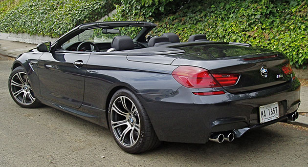 2012 BMW M6 Side With Top Down