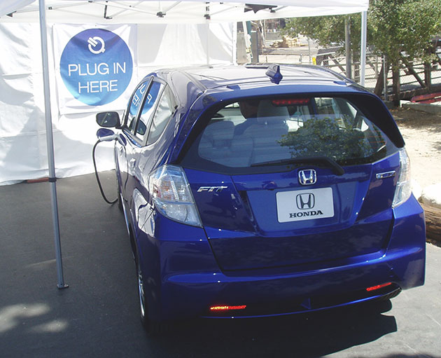 2013 Honda Fit From Behind
