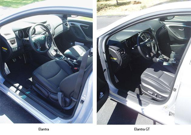 Hyundai Elantra Coupe and GT Interiors