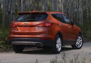 2013 Hyundai Santa Fe - Rear View