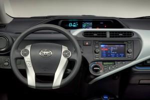 2012 Toyota Prius c dash