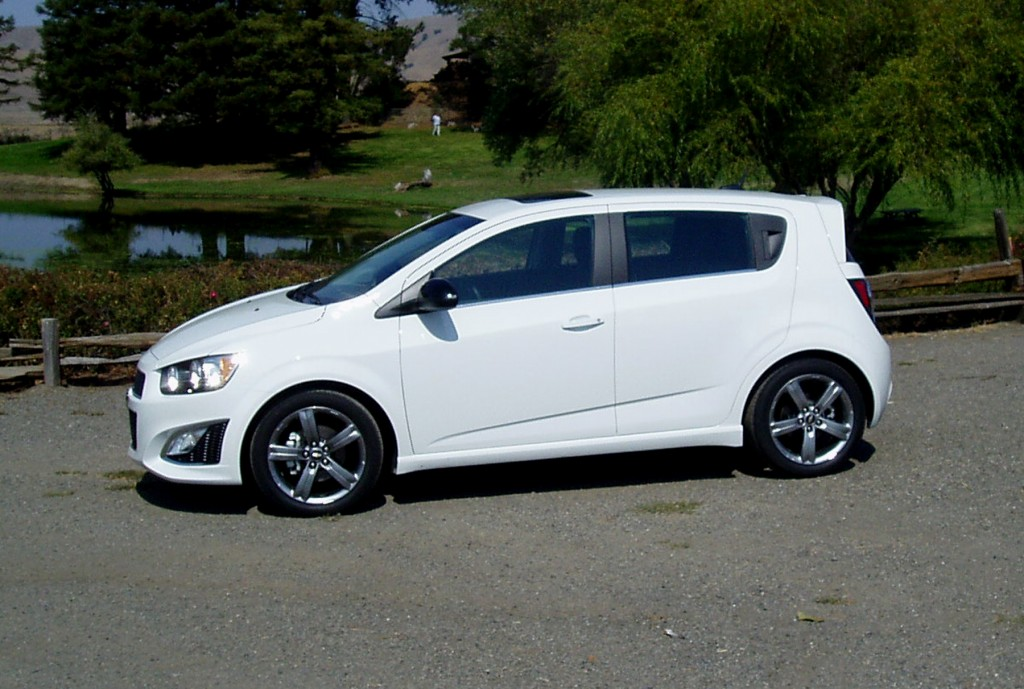 2013 Chevy Sonic - side view