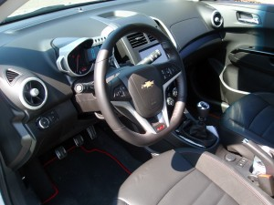 2013 Chevy Sonic RS interior