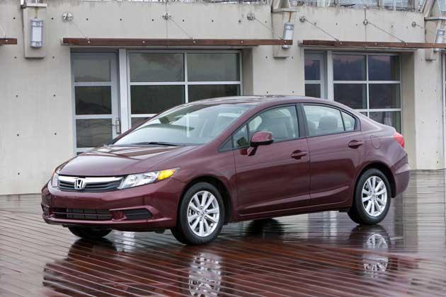 2012 Honda Civic EX Lsedan-front