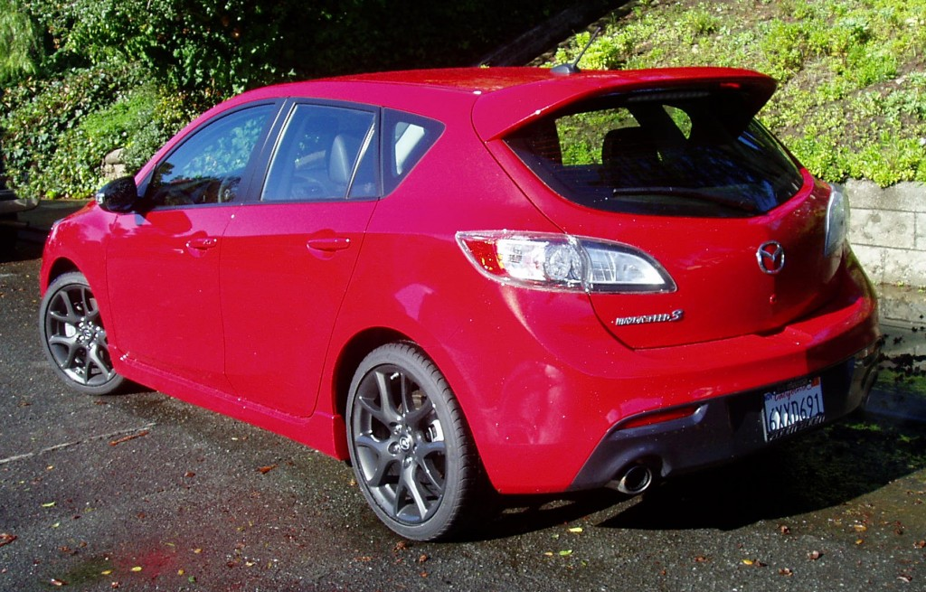 2013 MazdaSpeed3  - Rearview