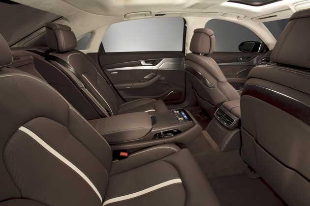 2013 Audi A8L rear seat