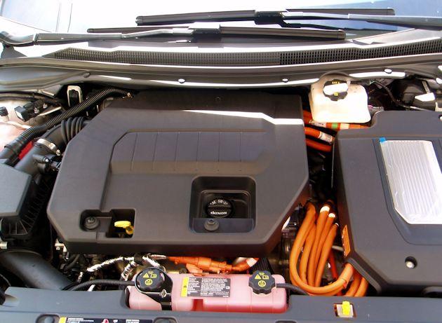 2014 Cadillac ELR under hood