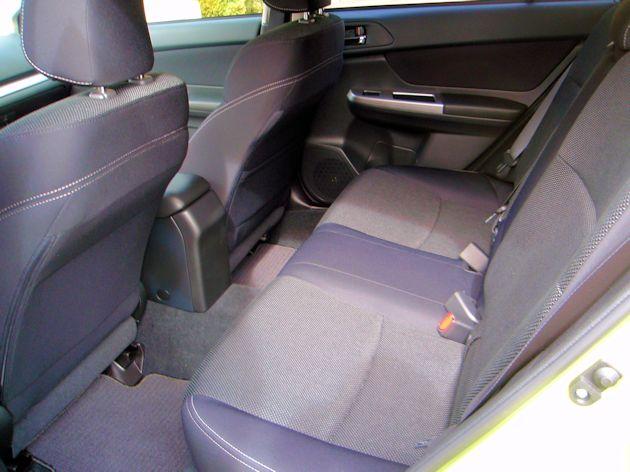 2014 Subaru XV Crosstrek Hybrid rear seat