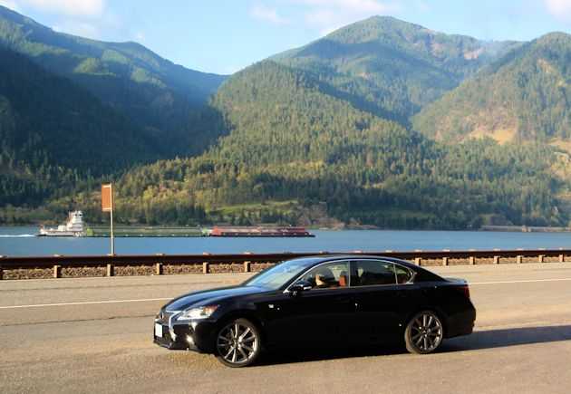 2014 Lexus GS--Columbia River Gorge near Hood River