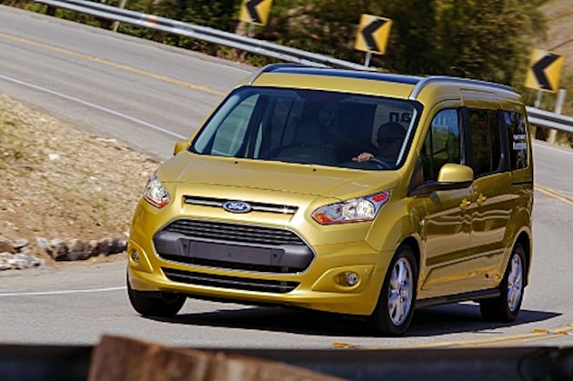 2014 Ford Transit Connect curve