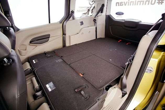 2014 Ford Transit Connect seats folded
