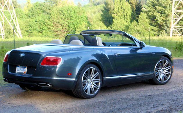 2014 Bentley Continental GTC rear