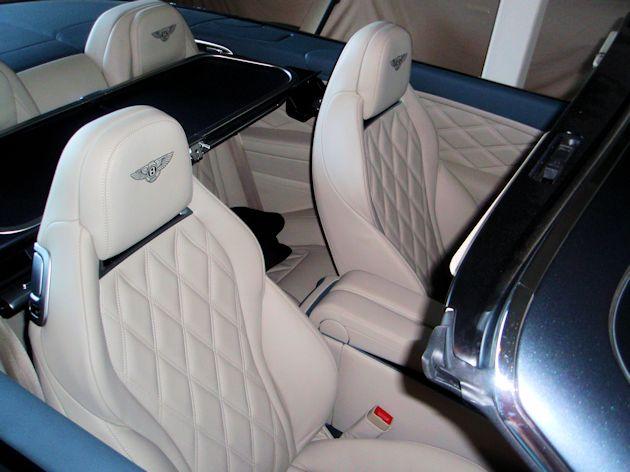 2014 Bentley Continental GTC seats