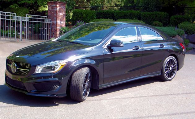 2014 Mercedes-Benz CLA black  front