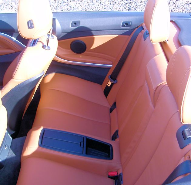 2014 BMW 435i Convertible rear seat
