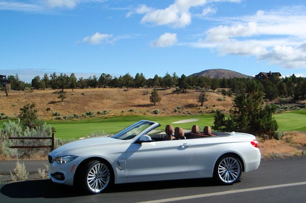2014 BMW 435i Convertible side top down