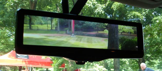2014 Nissan electronic mirror