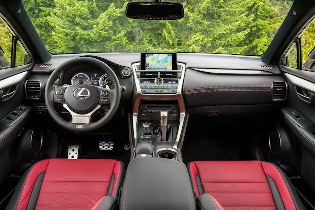 2015 Lexus NX F Sports dash