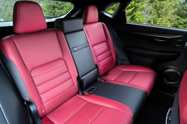 2015 Lexus NX F Sports rear seat