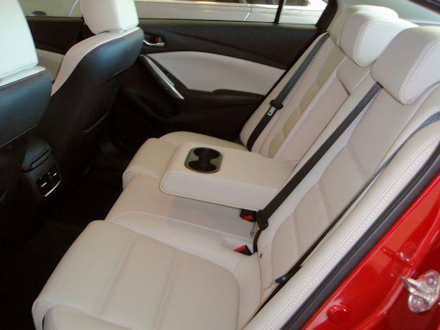 2015 Mazda6 rear seat