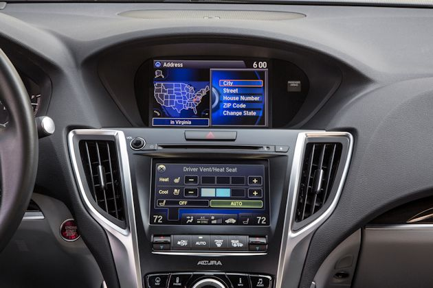 2015 Acrua TLX screens