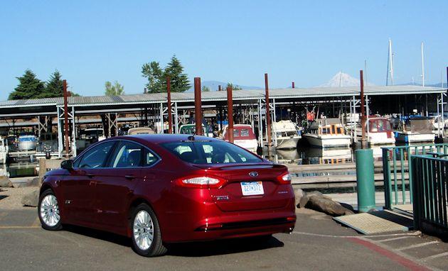 2015 Ford Fusion Energi rear