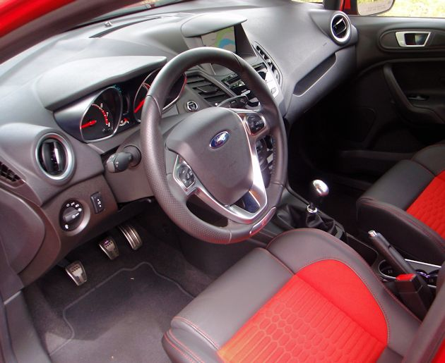 2014 Ford Fiest ST interior