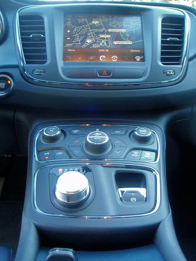 2015 Chrysler 200S center stack
