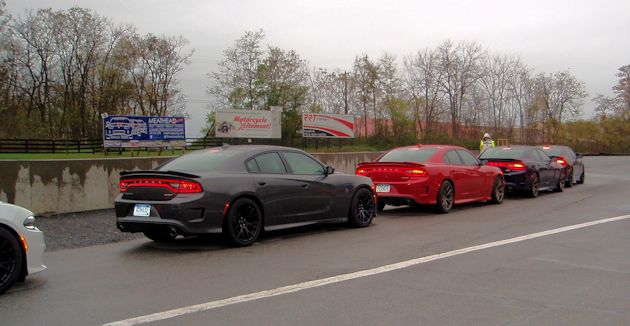 2015 Dodge Charger Hellcats track