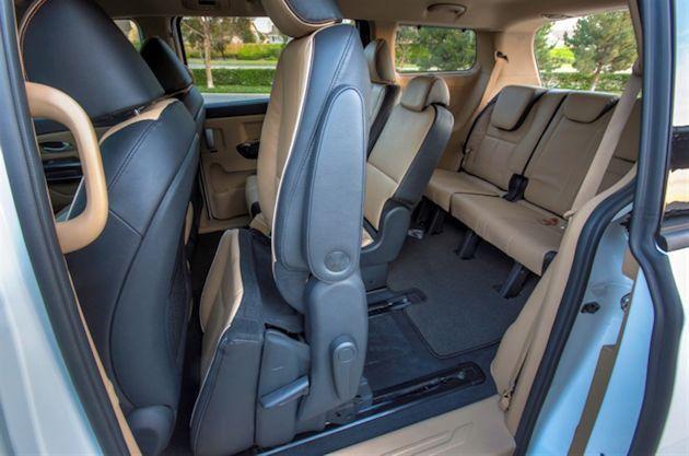 2015 Kia Sedona seat folded
