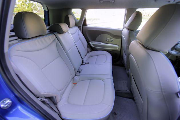 2015 Kia Soul EV rear seat