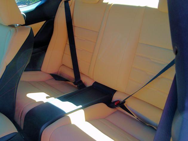 2015 Lexus RC F rear seat
