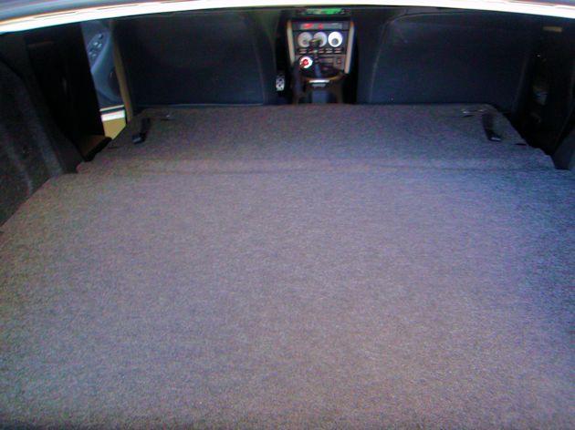2015 Subaru BRZ cargo area seat folded