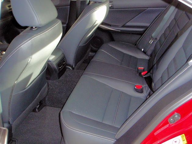 2015 Lexus IS 250 rear seat