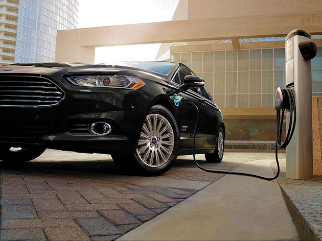 2015 Ford Fusion Energi plugged-in