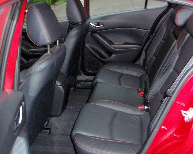 2015 Mazda3 rear seat