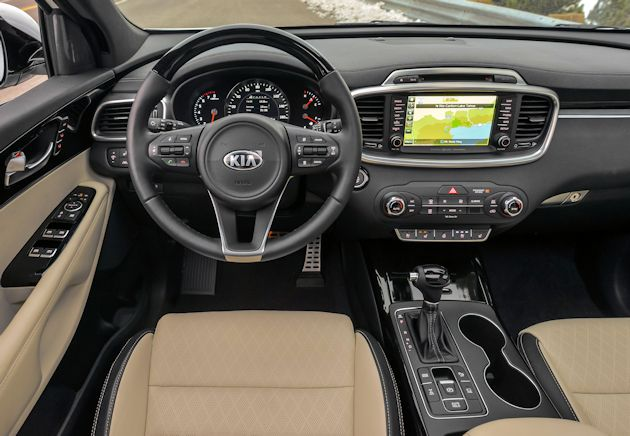 2016 Kia Sorrento dash
