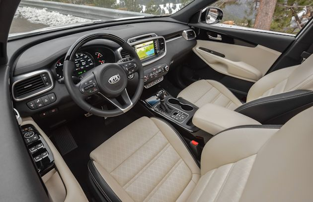 2016 Kia Sorrento interior