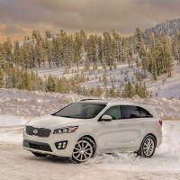 2016 Kia Sorrento snow frontnbsp