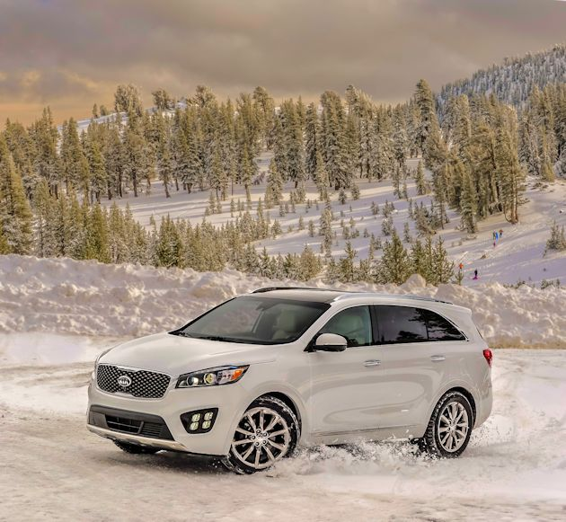 2016 Kia Sorrento snow front