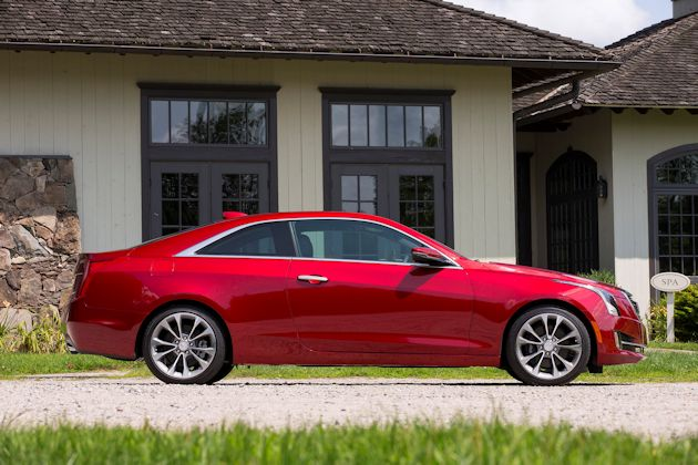 2015 Cadillac ATS Coupe side 2