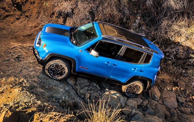 2015 Jeep Renegade rocks