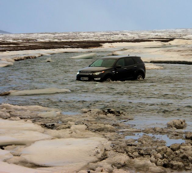 2015 Land Rover Discover Sport in water