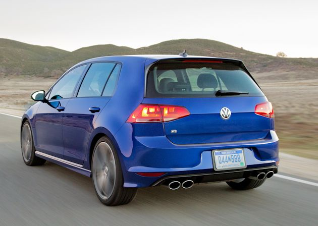 2015 Volkswagen Golf R rear