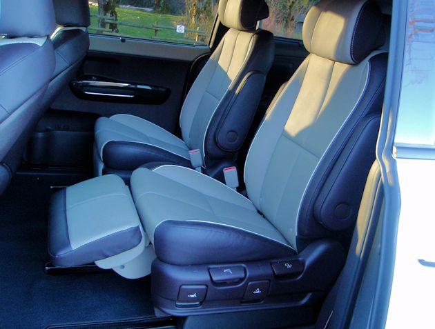 2015 Kia Sedona rear seat