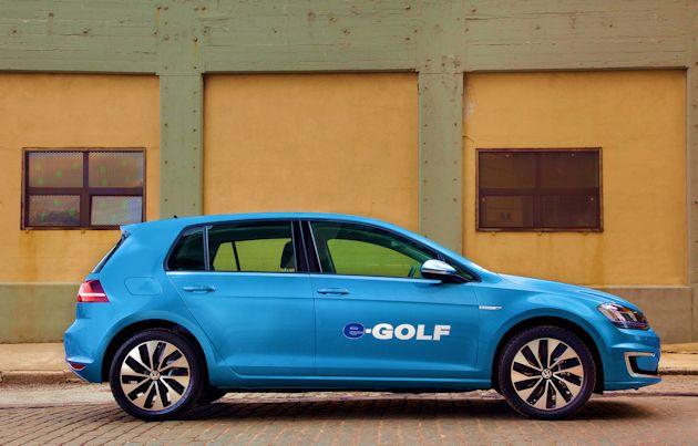 2015 Volkswagen eGolf side