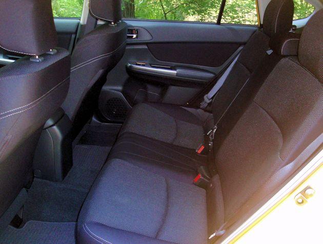 2015 Subaru XV CrossTrek rear seat