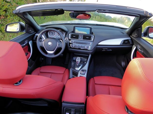 2015 BMW 228i convertible interior