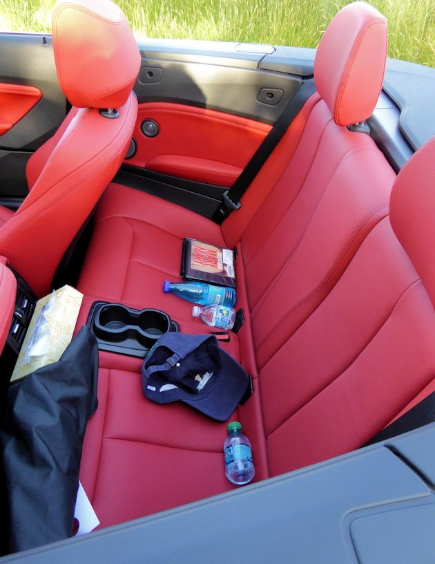 2015 BMW 228i convertible rear seat
