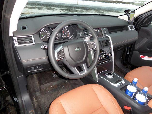 b2015 Land Rover Discover Sport dash